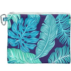 Tropical Greens Leaves Banana Canvas Cosmetic Bag (xxxl)