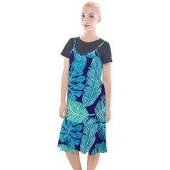 Tropical Greens Leaves Banana Camis Fishtail Dress by Mariart