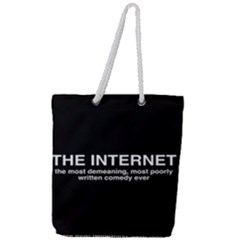 The Internet Full Print Rope Handle Tote (large) by WensdaiAddamns