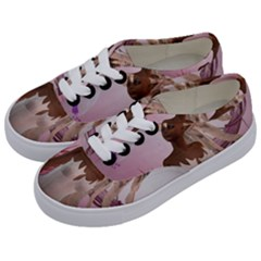 Wonderful Fairy With Feather Hair Kids  Classic Low Top Sneakers by FantasyWorld7