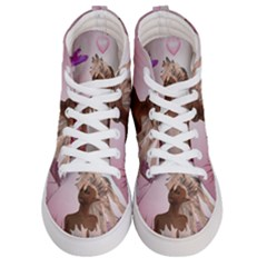 Wonderful Fairy With Feather Hair Women s Hi Top Skate Sneakers