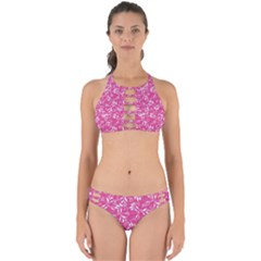 Fancy Floral Pattern Perfectly Cut Out Bikini Set by tarastyle
