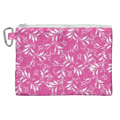 Fancy Floral Pattern Canvas Cosmetic Bag (xl)