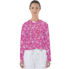 Fancy Floral Pattern Women s Slouchy Sweat