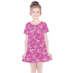 Fancy Floral Pattern Kids  Simple Cotton Dress