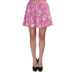 Fancy Floral Pattern Skater Skirt