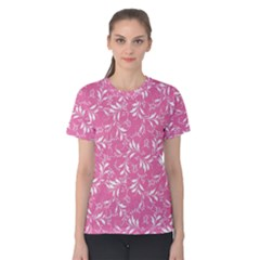 Fancy Floral Pattern Women s Cotton Tee