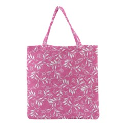 Fancy Floral Pattern Grocery Tote Bag