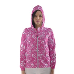 Fancy Floral Pattern Hooded Windbreaker (women)