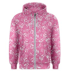 Fancy Floral Pattern Men s Zipper Hoodie