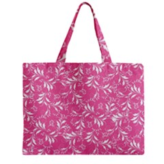 Fancy Floral Pattern Zipper Mini Tote Bag