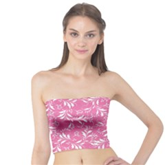 Fancy Floral Pattern Tube Top