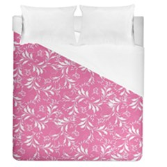 Fancy Floral Pattern Duvet Cover (queen Size) by tarastyle