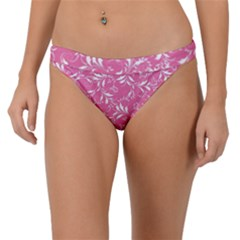 Fancy Floral Pattern Band Bikini Bottom