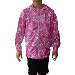 Fancy Floral Pattern Hooded Windbreaker (kids)