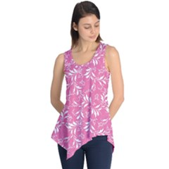 Fancy Floral Pattern Sleeveless Tunic