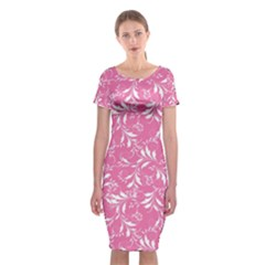 Fancy Floral Pattern Classic Short Sleeve Midi Dress