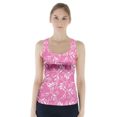 Fancy Floral Pattern Racer Back Sports Top