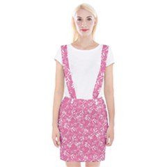 Fancy Floral Pattern Braces Suspender Skirt