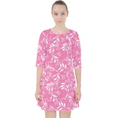 Fancy Floral Pattern Pocket Dress