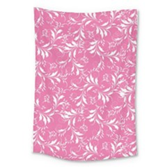Fancy Floral Pattern Large Tapestry