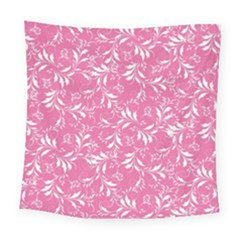 Fancy Floral Pattern Square Tapestry (large)