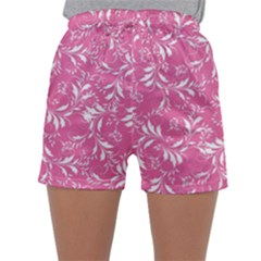 Fancy Floral Pattern Sleepwear Shorts