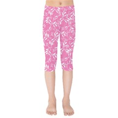 Fancy Floral Pattern Kids  Capri Leggings