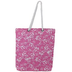 Fancy Floral Pattern Full Print Rope Handle Tote (large)
