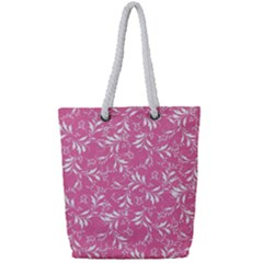 Fancy Floral Pattern Full Print Rope Handle Tote (small)