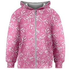 Fancy Floral Pattern Kids  Zipper Hoodie Without Drawstring