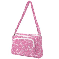 Fancy Floral Pattern Front Pocket Crossbody Bag
