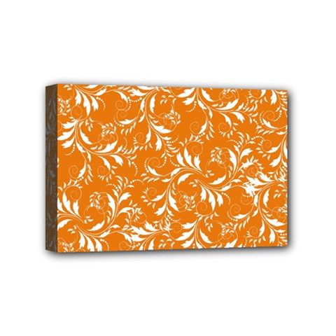 Fancy Floral Pattern Mini Canvas 6  X 4  (stretched)