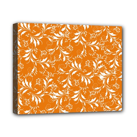 Fancy Floral Pattern Canvas 10  X 8  (stretched)