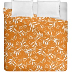 Fancy Floral Pattern Duvet Cover Double Side (king Size)