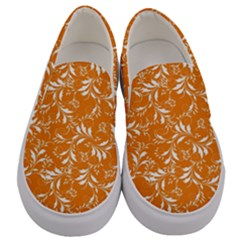 Fancy Floral Pattern Men s Canvas Slip Ons