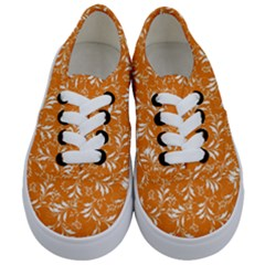 Fancy Floral Pattern Kids  Classic Low Top Sneakers