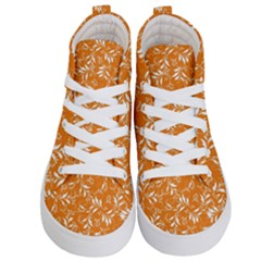 Fancy Floral Pattern Kids  Hi Top Skate Sneakers