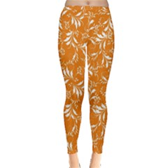 Fancy Floral Pattern Inside Out Leggings