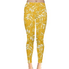 Fancy Floral Pattern Leggings