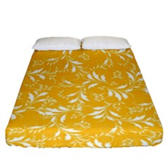 Fancy Floral Pattern Fitted Sheet (queen Size)
