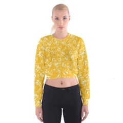 Fancy Floral Pattern Cropped Sweatshirt