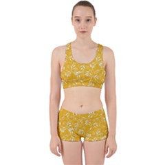 Fancy Floral Pattern Work It Out Gym Set