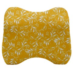 Fancy Floral Pattern Velour Head Support Cushion