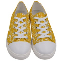 Fancy Floral Pattern Women s Low Top Canvas Sneakers