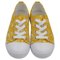 Fancy Floral Pattern Kids  Low Top Canvas Sneakers