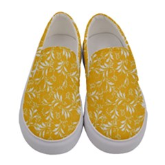 Fancy Floral Pattern Women s Canvas Slip Ons