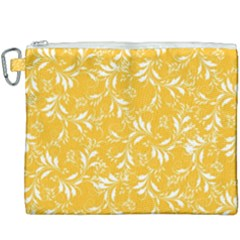 Fancy Floral Pattern Canvas Cosmetic Bag (xxxl)