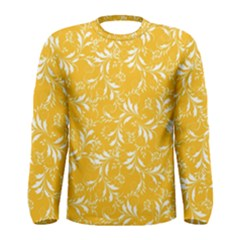 Fancy Floral Pattern Men s Long Sleeve Tee