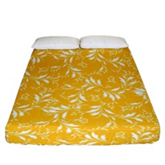 Fancy Floral Pattern Fitted Sheet (california King Size)